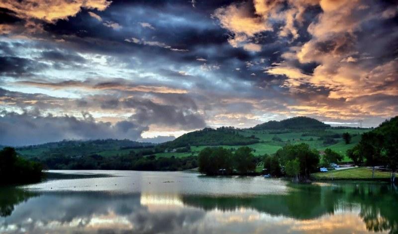lago di san ruffino ad amandola